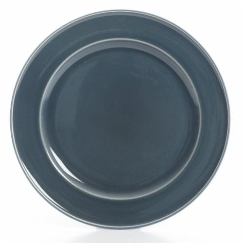 Martha Stewart Reactive Dinner Plate - Blue Perspective: front