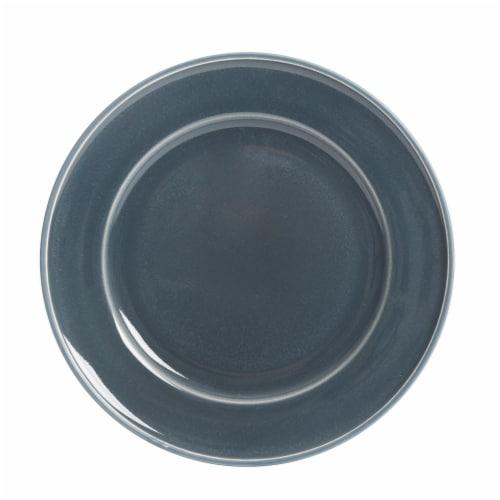 Martha Stewart Reactive Dessert Plate - Blue Perspective: front