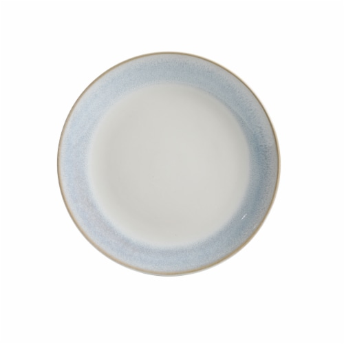 Martha Stewart Reactive Dessert Plate - White/Blue Perspective: front