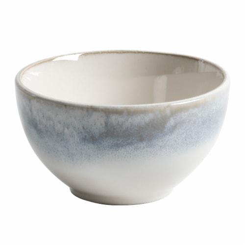 Martha Stewart Pinch Bowl - Blue/White Perspective: front