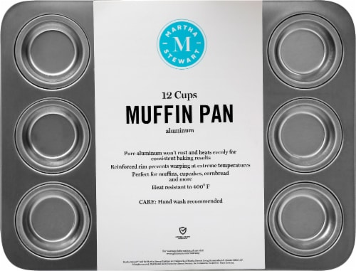 Martha Stewart 12 Cup Aluminum Muffin Tin Perspective: front