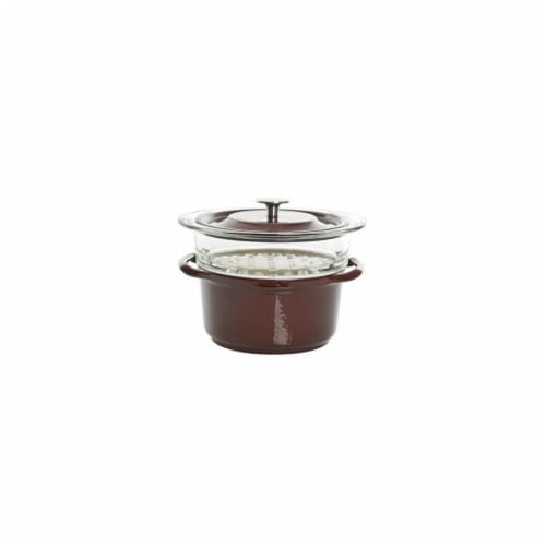 Gibson 126366.03 3 qt Casserole with Glass Steamer Perspective: front