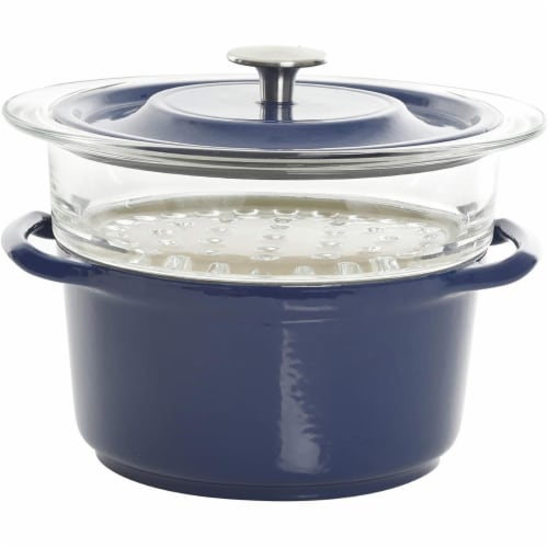 Gibson 126367.03 3 qt Casserole with Glass Steamer Perspective: front