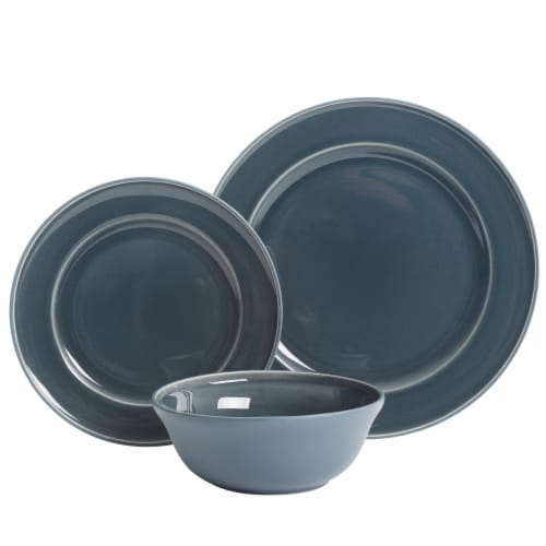 Martha Stewart Reactive Dinnerware Set - Blue Perspective: front
