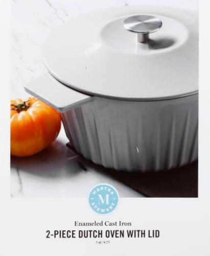 Martha Stewart Round Casserole Dish - Gray Perspective: front