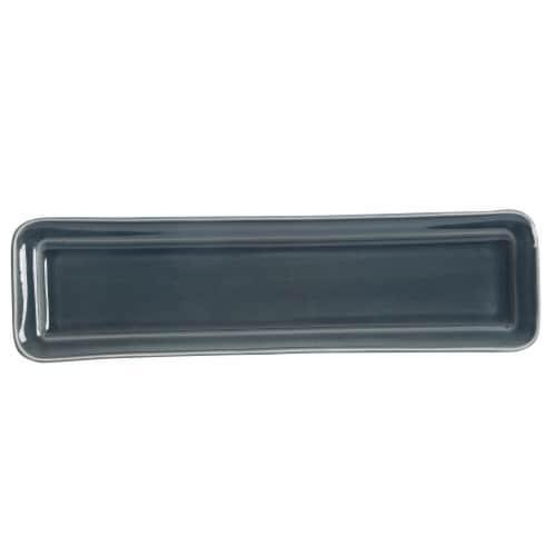 Martha Stewart Reactive Rectangle Platter - Blue Perspective: front