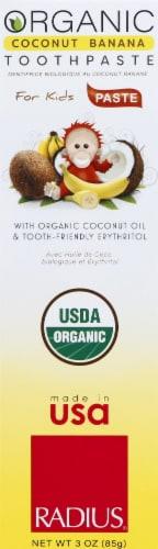 Radius Organic Coconut Banana Children's Toothpaste Perspective: front