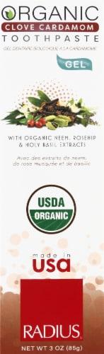Radius Organic Clove Cardamom Gel Toothpaste Perspective: front