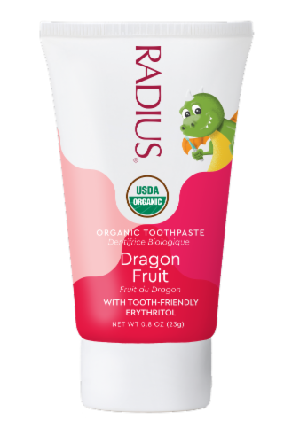 Radius Organic Dragon Fruit Children's Toothpaste Perspective: front