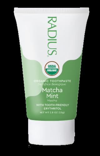 Radius® Organic Matcha Mint Toothpaste Perspective: front