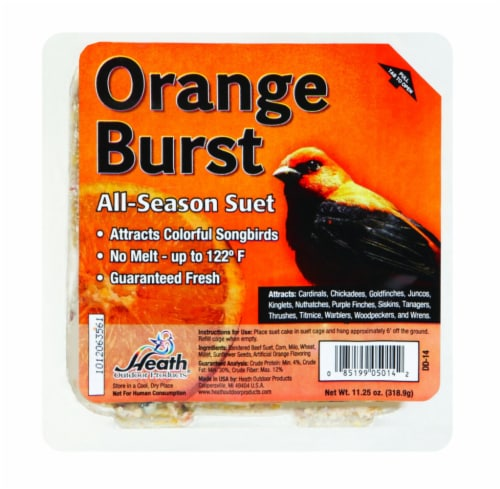 Heath® Orange Burst All-Season Suet Perspective: front
