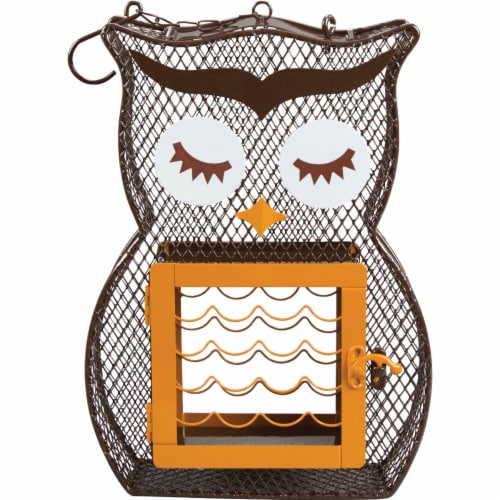 Heath Owl Dual Feeder Perspective: front
