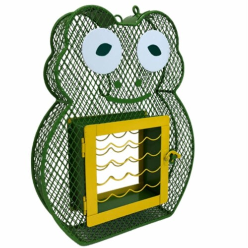 Heath Manufacturing Suet N Seed Frog Feeder Perspective: front