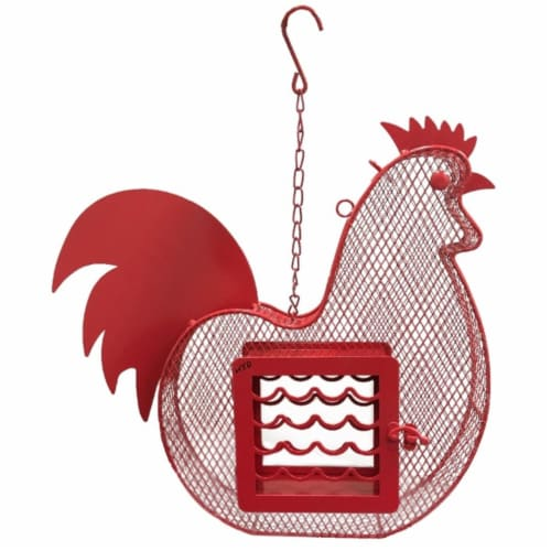 Heath 21815 Rooster Suet & Seed Feeder Perspective: front