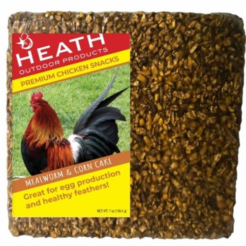 Heath SC-100 7 oz Mealworm & Corn Cake Pet Food Perspective: front