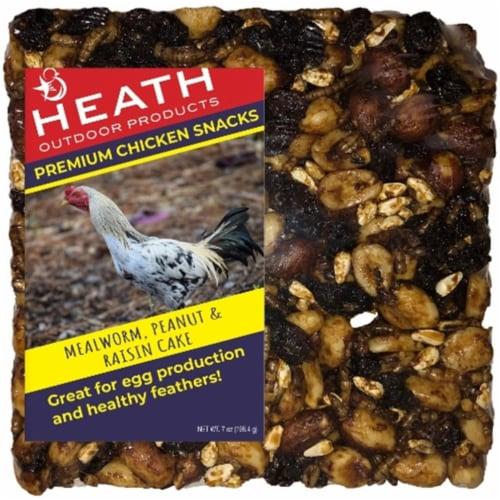 Heath SC-102 7 oz Mealworm & Peanut Raisin Cake Pet Food Perspective: front