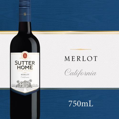 Sutter Home® Merlot Red Wine 750mL Wine Bottle Perspective: front