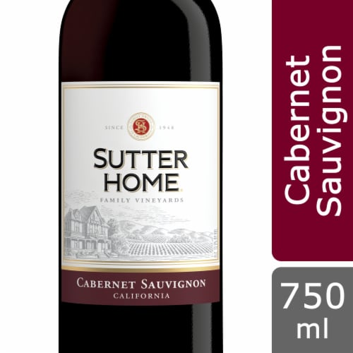 Sutter Home® Cabernet Sauvignon Red Wine 750mL Wine Bottle Perspective: front