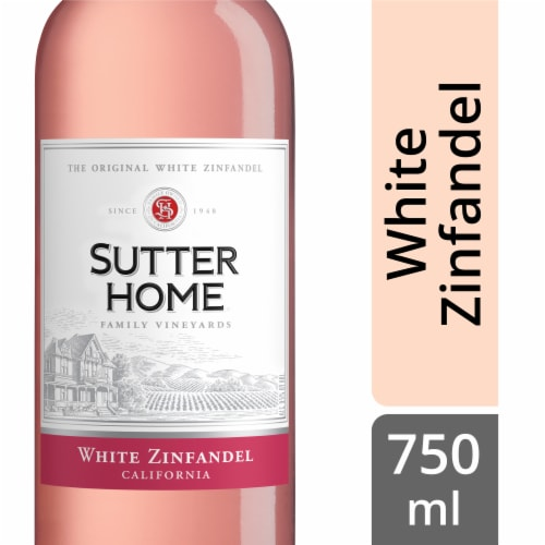 Sutter Home White Zinfandel Perspective: front