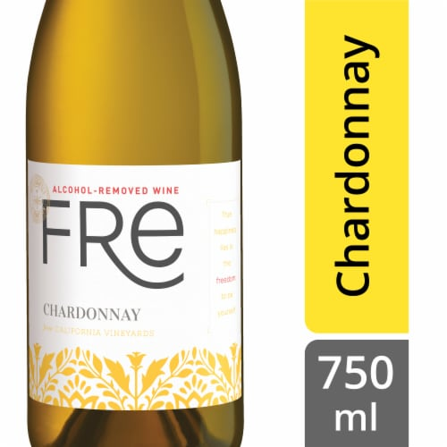 Fre Non-Alcoholic Chardonnay White Wine Perspective: front
