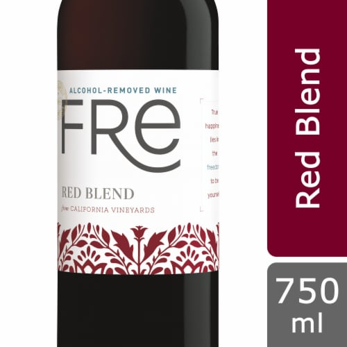 Fre Non-Alcoholic Red Blend Wine Perspective: front