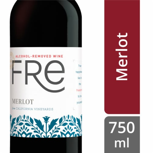 Fre Non-Alcoholic Merlot Red Wine Perspective: front