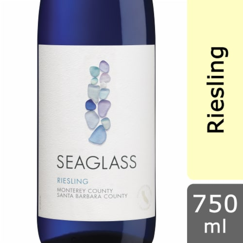 SEAGLASS Riesling White Wine 750mL Wine Bottle Perspective: front