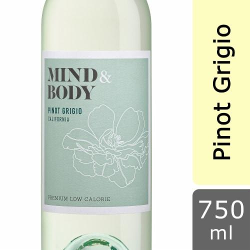 Mind & Body Pinot Grigio White Wine Perspective: front