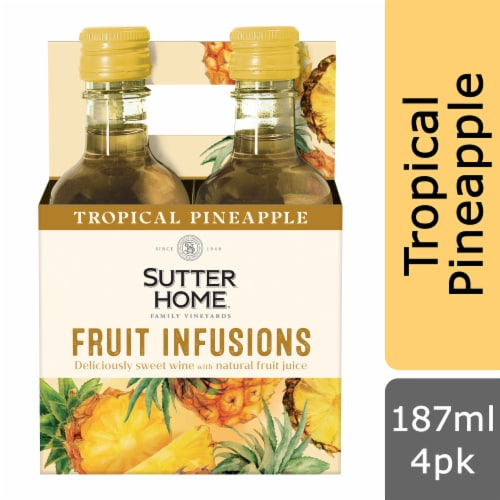Sutter Home® Fruit Infusions Tropical Pineapple White Wine Perspective: front