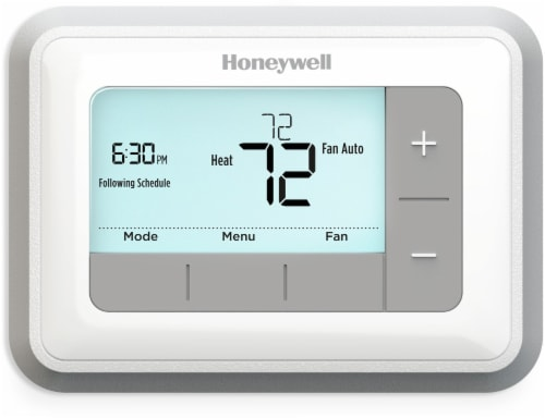 Honeywell Programmable Thermostat Perspective: front