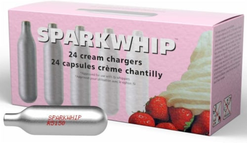 iSi Sparkwhip Whipped Cream Chargers Perspective: front