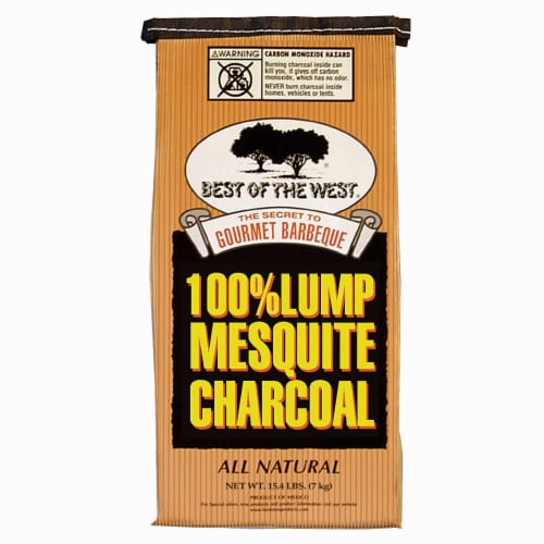 Best of the West Mesquite Natural Hardwood Lump BBQ Grill Charcoal, 15.40 Pounds Perspective: front