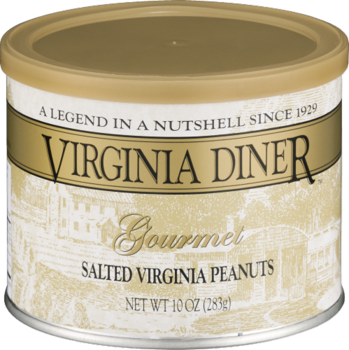 Virginia Diner Gourmet Salted Virginia Peanuts Perspective: front