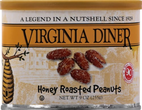 Virginia Diner Honey Roasted Peanuts Perspective: front