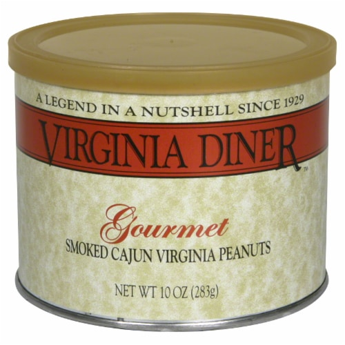 Virginia Diner Smoked Cajun Virginia Peanuts Perspective: front