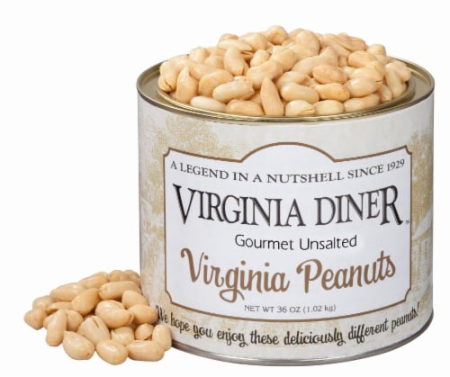 Virgina Diner Unsalted Peanuts Perspective: front