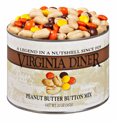 Virginia Diner Peanut Butter Button Mix Perspective: front