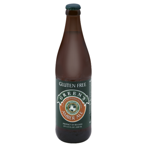 Green's Gluten Free Amber Ale Perspective: front