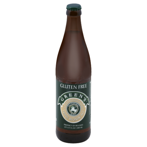 Green's Gluten Free Tripel Blonde Ale Perspective: front