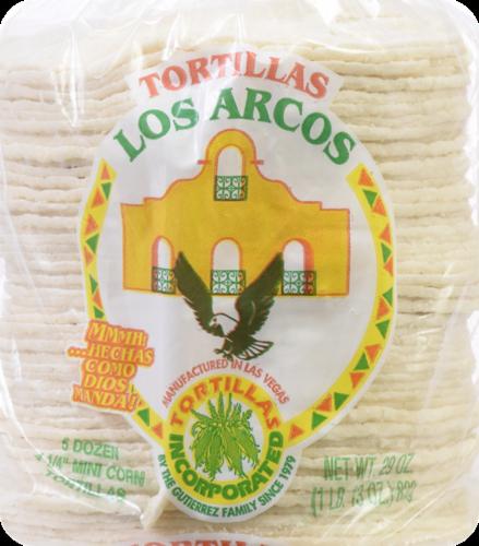 Los Arcos Mini Corn Tortillas Perspective: front