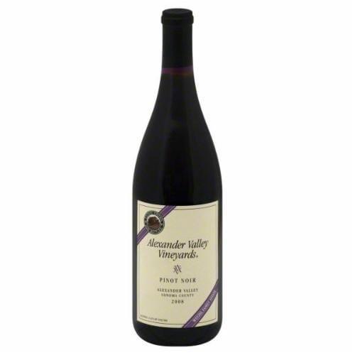 Alexander Valley Vineyards Pinot Noir Perspective: front