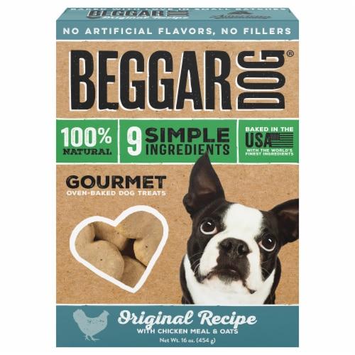 Beggar Original Recipe Chicken Meal & Oats Oven-Baked Dog Treats Perspective: front