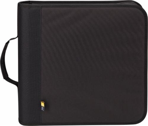 Case Logic 208 Capacity Nylon CD/DVD Wallet - Black Perspective: front