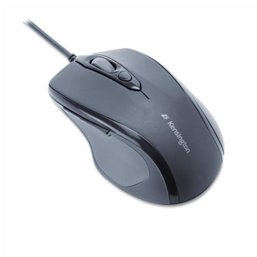 Pro Fit Wired Mid-Size Mouse, USB 2.0, Right Hand Use, Black 72355 Perspective: front