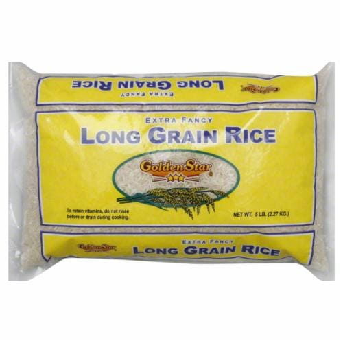 Golden Star Long Grain Rice Perspective: front