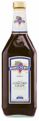 Manischewitz Concord Grape Fruit Wine Perspective: front