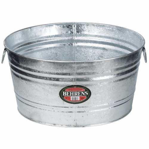 Behrens 17 gal. Steel Tub Round - Case Of: 1; Perspective: front