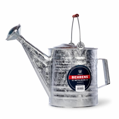 Behrens Silver 2 gal. Steel Watering Can - Case Of: 1; Perspective: front
