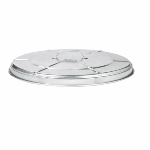 Behrens 38111 20 Gallon Galvanized Steel Replacement Lid for Garbage Cans Perspective: front