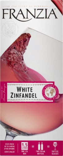Franzia White Zinfandel Pink Wine Perspective: front
